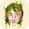 ninetydegrees: Drawing: woman laughing (laughter)
