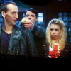 artsybrigadier: Doctor Who, Doctor, Nine, Jack Harkness, Rose Tyler, Jack holding a banana (Stock: LaceNeck)
