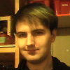 fumon: Photo of me with green and gold hair without a previously present goatee (Default)