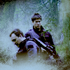 rensreality101: john and rodney in the forest in the fog (foggy boys)