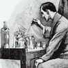 prodigy: Sherlock Holmes tinkers with his chemistry set. (rebels at stagnation)