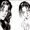 skygiants: ran and nijiko from 7 Seeds, looking faintly judgy (dubious lesbians)
