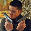 skieswideopen: Dean Winchester from Supernatural holding a gun in either hand (SPN: Dean with shotgun)