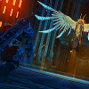 oneill: Darksiders - A Dutch angle shot of War approaching Azrael (in our darkest places)