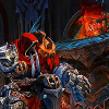 oneill: Darksiders - War looks back after bursting out through the top of Straga's skull (non straga sindora)