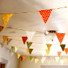 darwin: Strings of bunting hanging from a ceiling. (Bunting!)