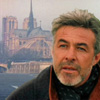 muccamukk: Joe in front of Notre Dame Cathedral (HL: Joe in Paris)