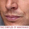beelikej: Detail of Jensen Ackles' face (Dimples of Annoyance)