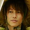 x_battousai: Kenshin with a calm, almost self-assured smile (De gozaru)