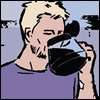 mayhap: Clint drinks straight from the coffee pot (Clint/coffee)