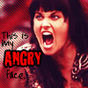 bluefall: this is my angry face. (Angry Xena)
