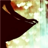 syntheid: [img] silhouette of a person lifting skirts in a twirl, surrounded by bokeh hearts (♥)