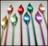 swizzlespoon: picture of swizzlespoons in different bright metallic colors (Default)