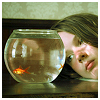 meloukhia: A person peering at goldfish (Watching goldfish)