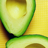 meloukhia: An avocado, cut in half with the pit removed (Avocados)