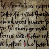 mayhap: detail of Icelandic saga manuscript text (sagas)