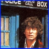 alee_grrl: Image of 4th Doctor (Tom Baker) leaning out of the TARDIS (dr who yes)