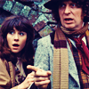 alee_grrl: 4th Doctor and companion looking shocked (dr who shock)
