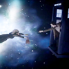 rose_griffes: Eleventh Doctor catching River as she floats in space (oh tardis my tardis)
