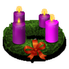 duskpeterson: Advent wreath (Advent wreath)