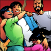 ying: jaime reyes and family being fluffy and happy (jaime and family)