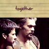 telesilla: john and ronon with the text: together (john and ronon)