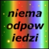 bowloffoxtrot: Vertical rainbow background with yellow sparkles, the word niema/odpow/iedzi in black sanserif font. By Chally. (niema)