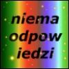 bowloffoxtrot: Vertical rainbow background with yellow sparkles, the word niema/odpow/iedzi in black sanserif font. By Chally. (niema)