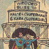 galateus: Supergirl weds Superman. Following ancient Kryptonian custom, they cut their way out of a giant wedding cake. (super incest wedding)