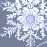 barefootsong: Snowflake on blue background (snowflake)