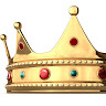 king_touchy: gold crown with jewels on white background (Default)