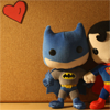 clex_monkie89: Plushie Superman and Plushie Batman holding plushie hands. (DCU: Plushie!Bats/Plushie!Supes <3)