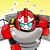 ext_357487: Blaster of Transformers blushing and being flustered (Happy Lockon)