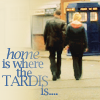 randomling: Nine and Rose hold hands on their way back to the TARDIS (TARDIS is home)
