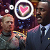 ponderosa: Herc staring at Stacker with a giant pink floaty heart in a thoughtbubble (pacific rim - team hot dads)