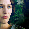 elaineofshalott: Lady Dedlock with wide blue eyes, colors manipulated to make her look even more distraught. (unnatural)