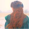 rustydog: red-haired woman in winter fog (women)