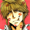 whymzycal: Sanzo from Saiyuki with lipstick kisses on his face (Sanzo Kissyface)