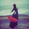 rinja: red umbrella in rain (let it rain)