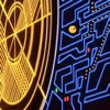 fortheusers: Pac-Man navigating a blue maze around a large yellow area (even Pac-Man was annexed!)