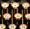 novapsyche: golden typewriter keys from a manual typewriter (typewriterkeys)