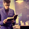 zoamh: Ten from Doctor who reading a book (dw: book)