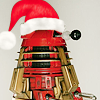 rebcake: dalek wearing santa hat (christmas)