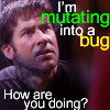 "dragonfly: John Sheppard becoming a bug and the words ""I'm mutating into a bug.  How are you doing?"" (SGA bug)"