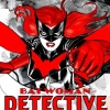 eln: The red-wigged Batwoman, Kate Kane, swings into her own logo. ((batwoman) kate kane)