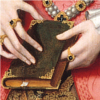 kohikari: Princess Elizabeth's hands cradling a book (cat's cradle)