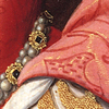 kohikari: the crook of Princess Elizabeth's elbow and waist in a fine gown (nook; cranny)