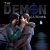 "lesley_hastings: Two men embracing on a cliff, with the words ""The Demon Catcher"" above them (the demon catcher)"