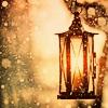 quillori: lantern in the snow (Xmas: lantern)