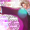 "afuna: Edgeworth pointing dramatically. Background text: ""Ergo! ergo! ergo!"" (ergo)"